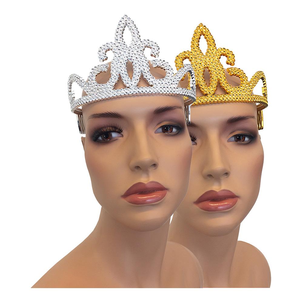 Tiara i Plast - Silver