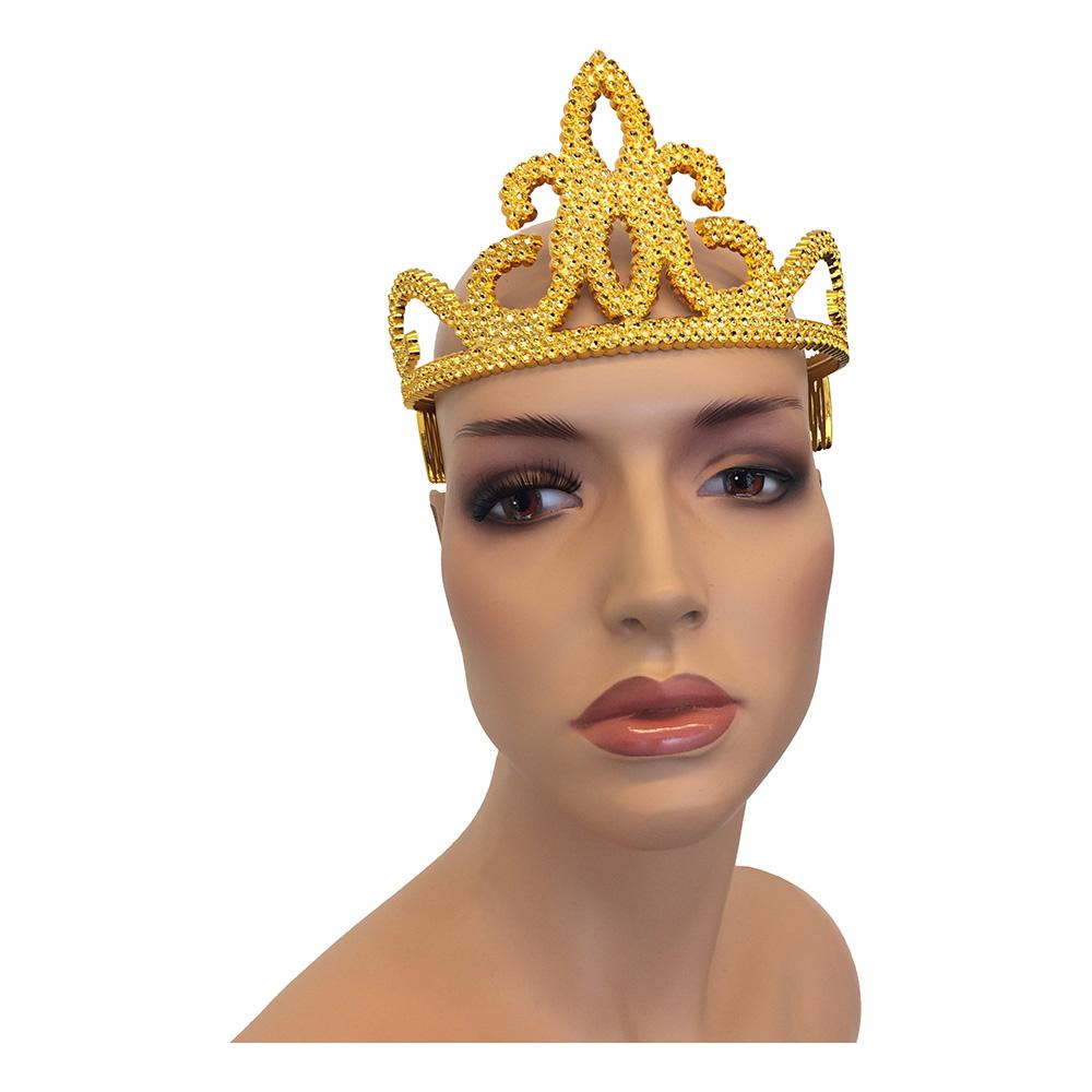 Tiara i Plast - Guld