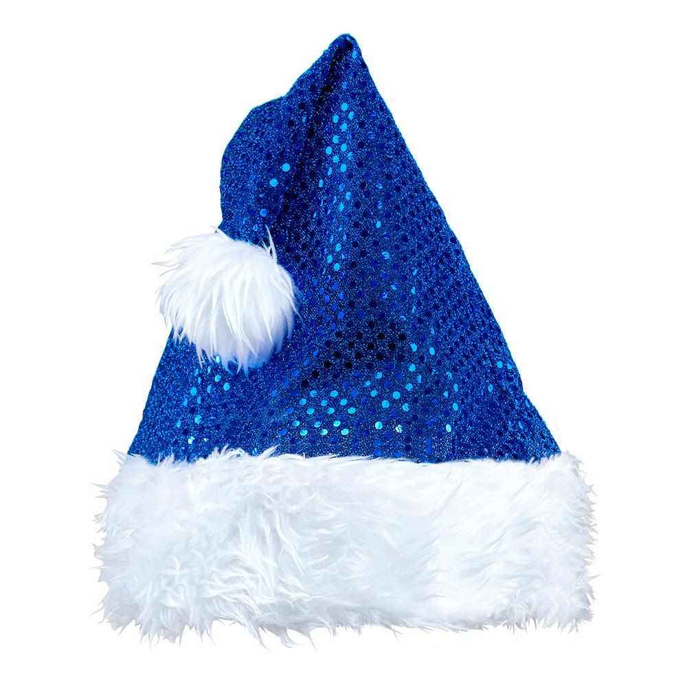 Tomteluva Blå Glitter - One size