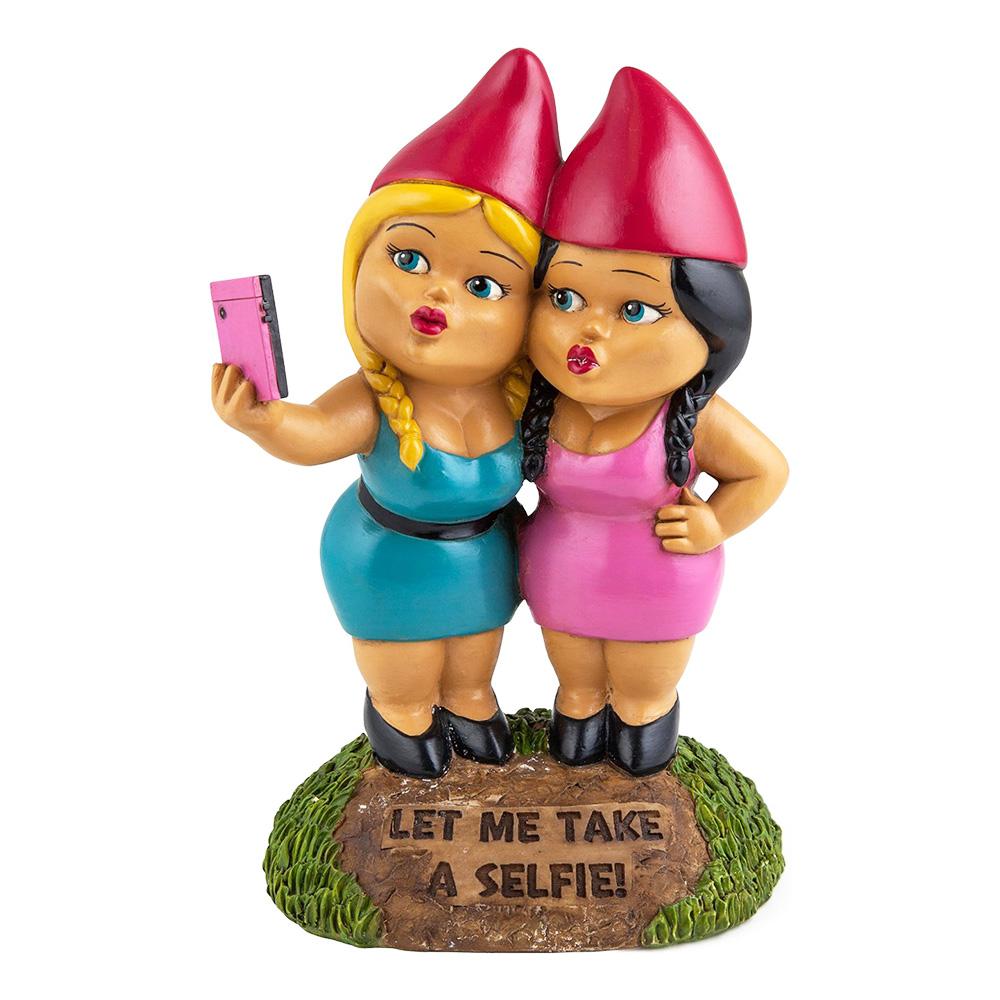 Trädgårdstomtar Selfie