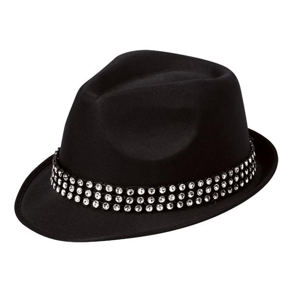 Trilby Hatt med Stenar - One size