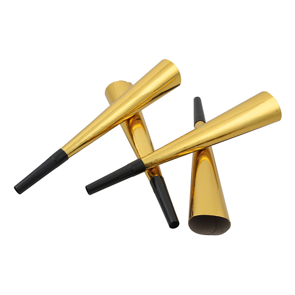 Blåshorn Guld Metallic - 4-pack