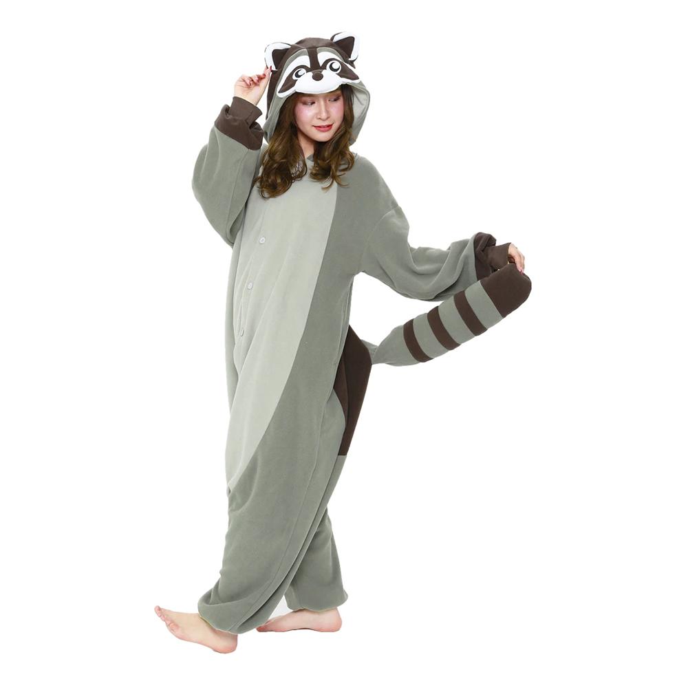 Tvättbjörn Kigurumi - One size