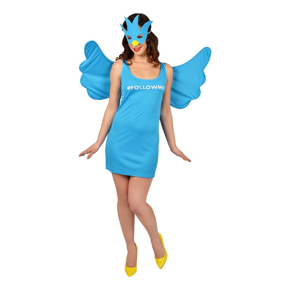 Twitter Maskeraddräkt - One size billigt online  e80f220fb5a21