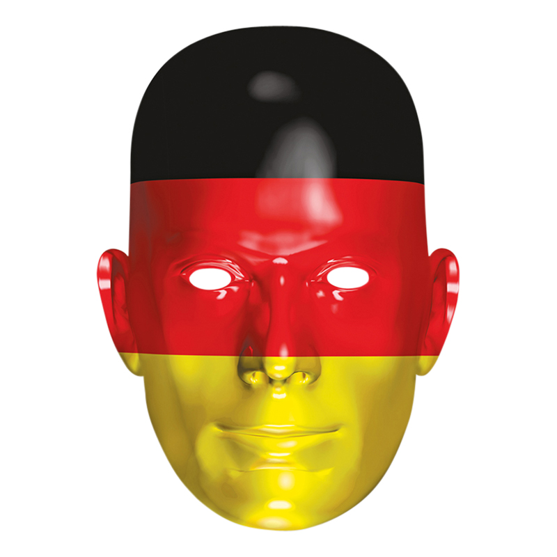 Tysklands Flagga Pappmask