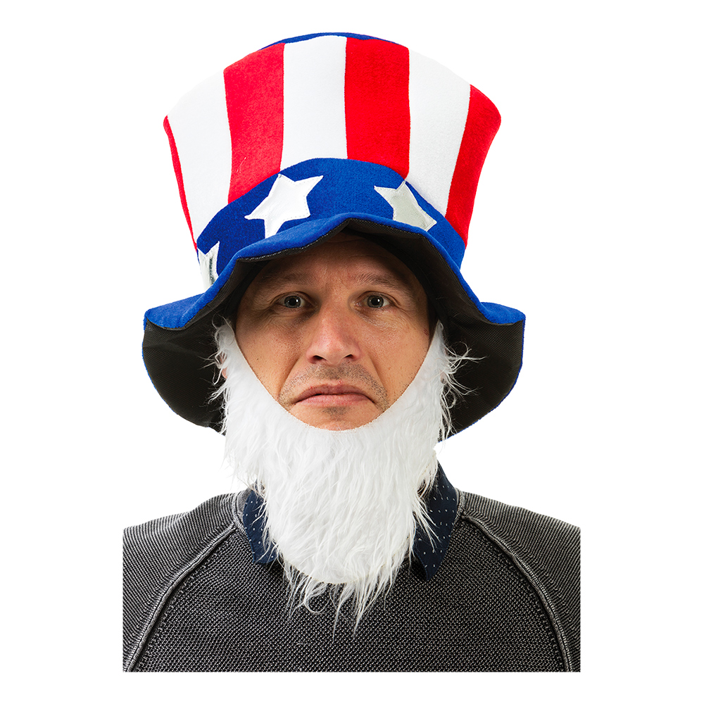 Uncle Sam Hatt med Skägg - One size