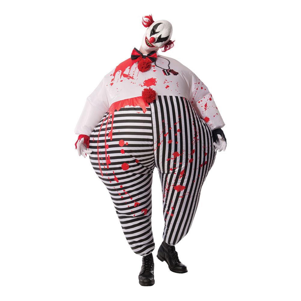 Uppblåsbar Mördarclown Maskeraddräkt - One size
