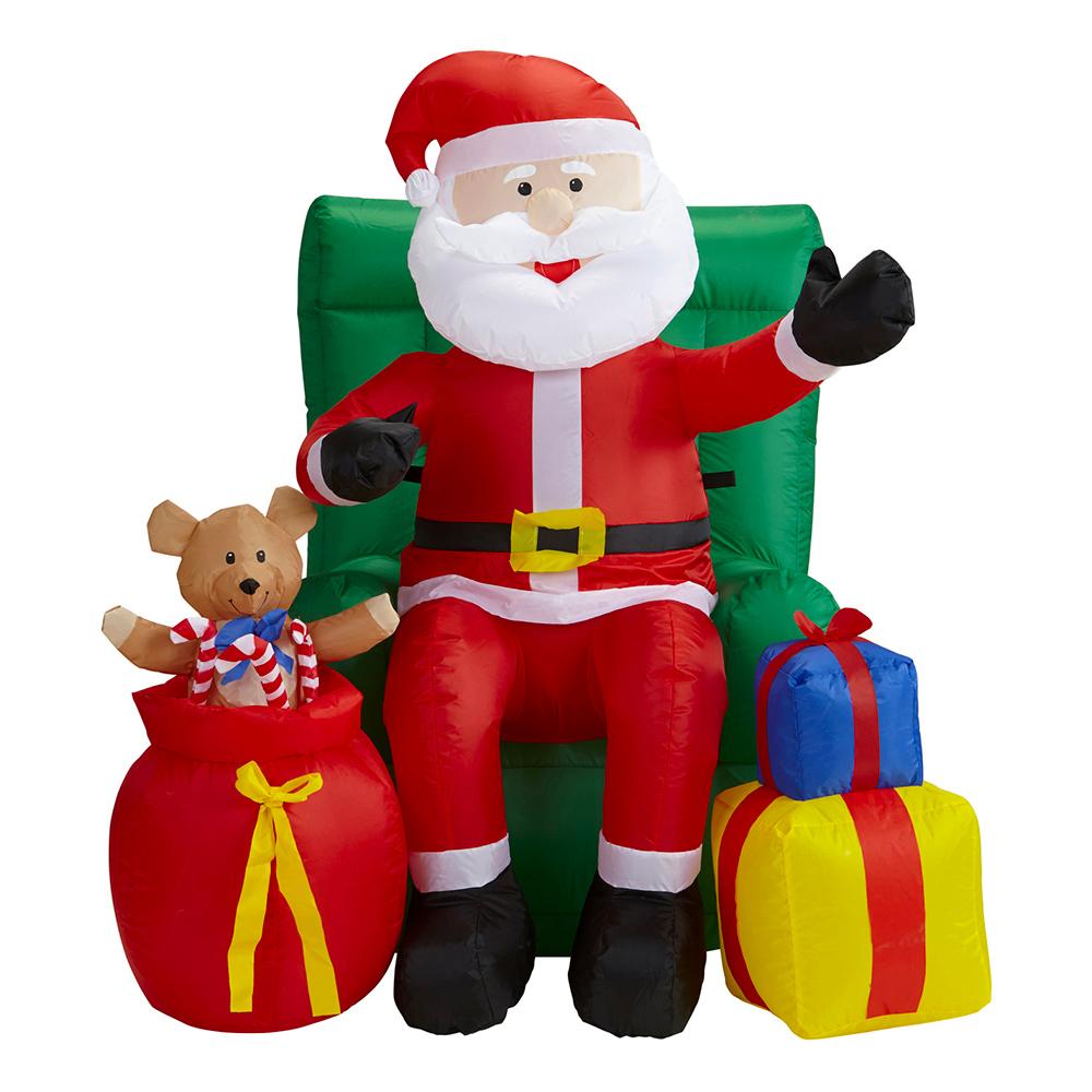 Uppblåsbar Animerad Tomte med Julklappar