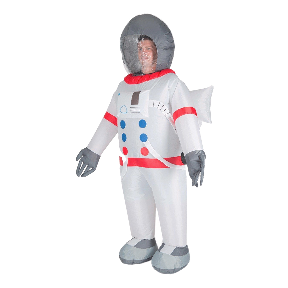Uppblåsbar Astronaut Maskeraddräkt - One size