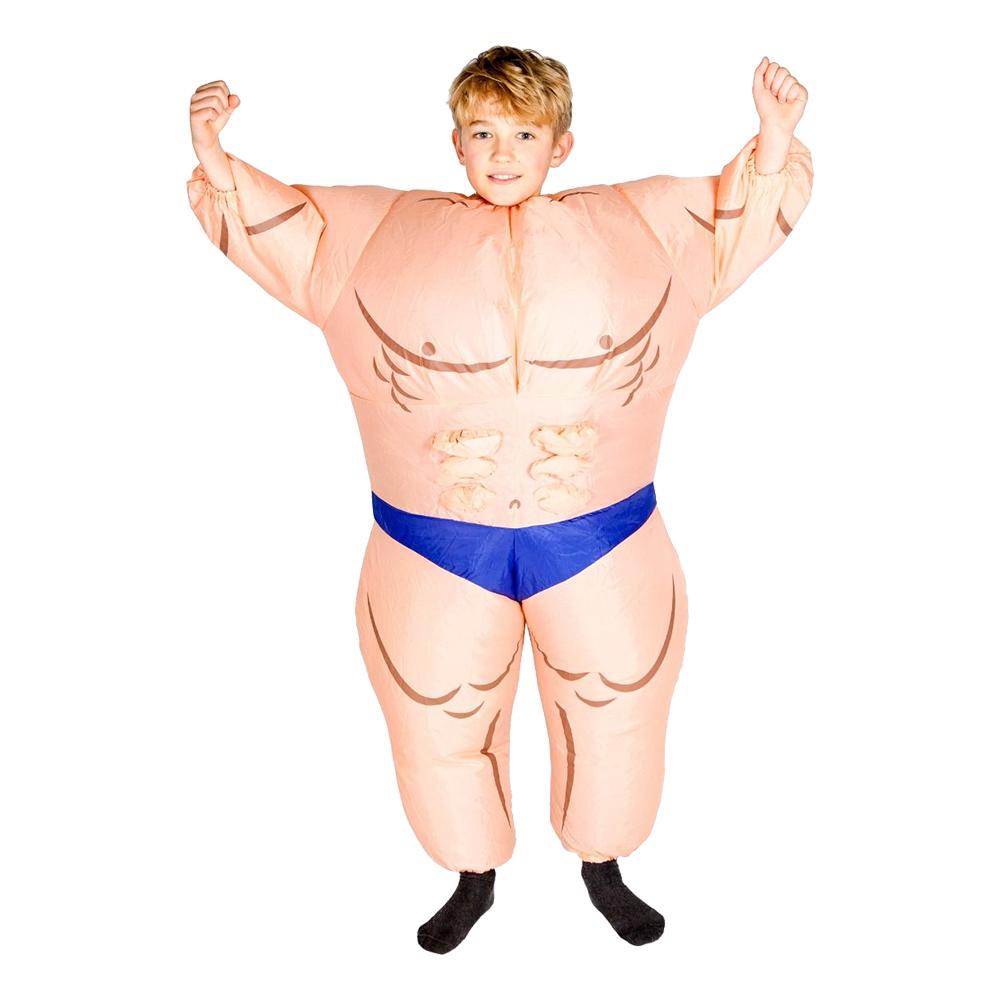 Uppblåsbar Bodybuilder Barn Maskeraddräkt - One size