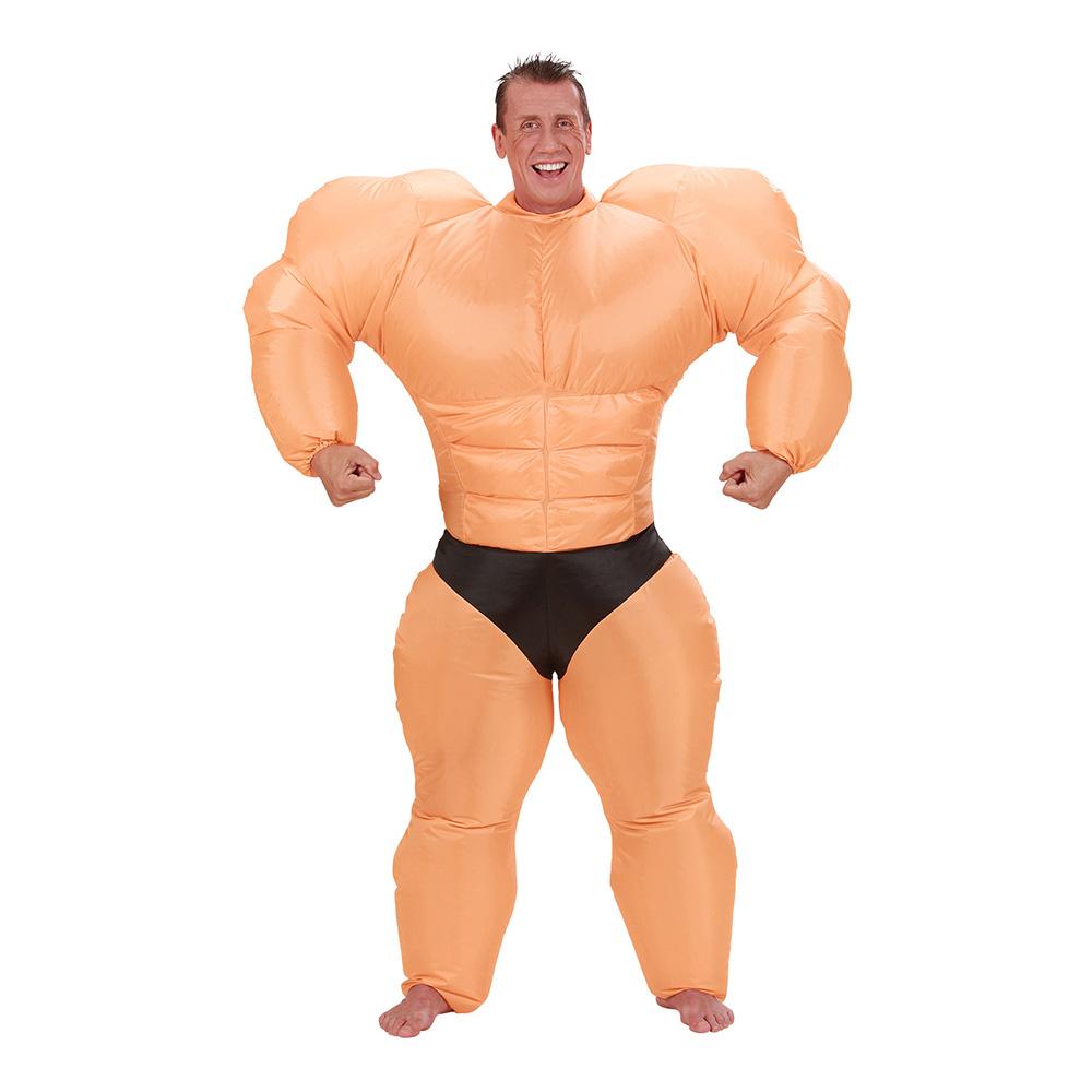 Uppblåsbar Bodybuilder Maskeraddräkt - One size