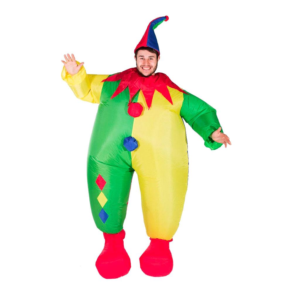 Uppblåsbar Clown Maskeraddräkt - One size