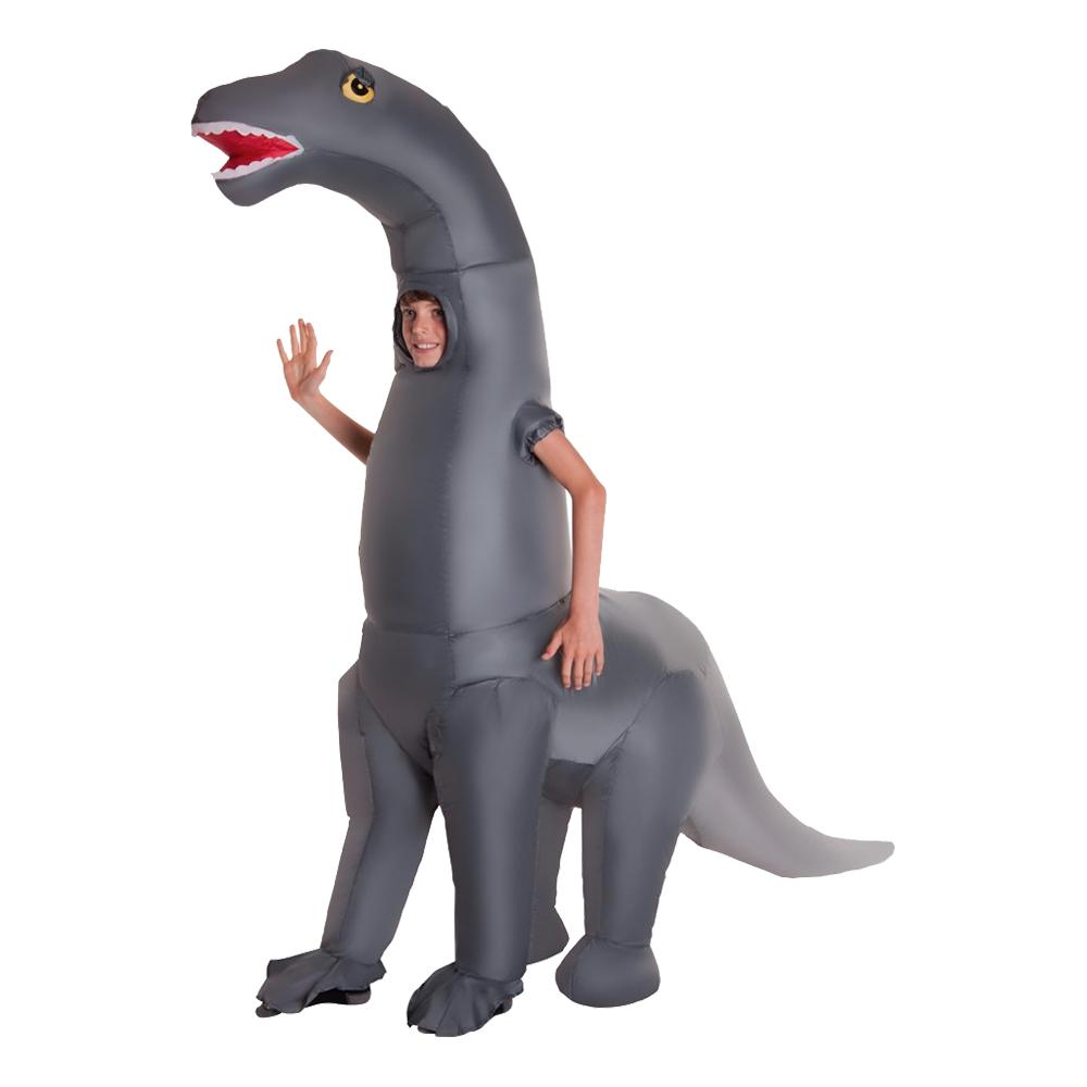 Uppblåsbar Diplodocus Barn Maskeraddräkt - One size