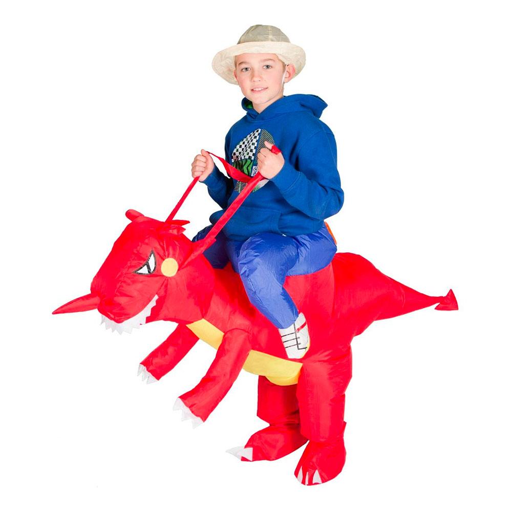 Uppblåsbar Drake Barn Maskeraddräkt - One size