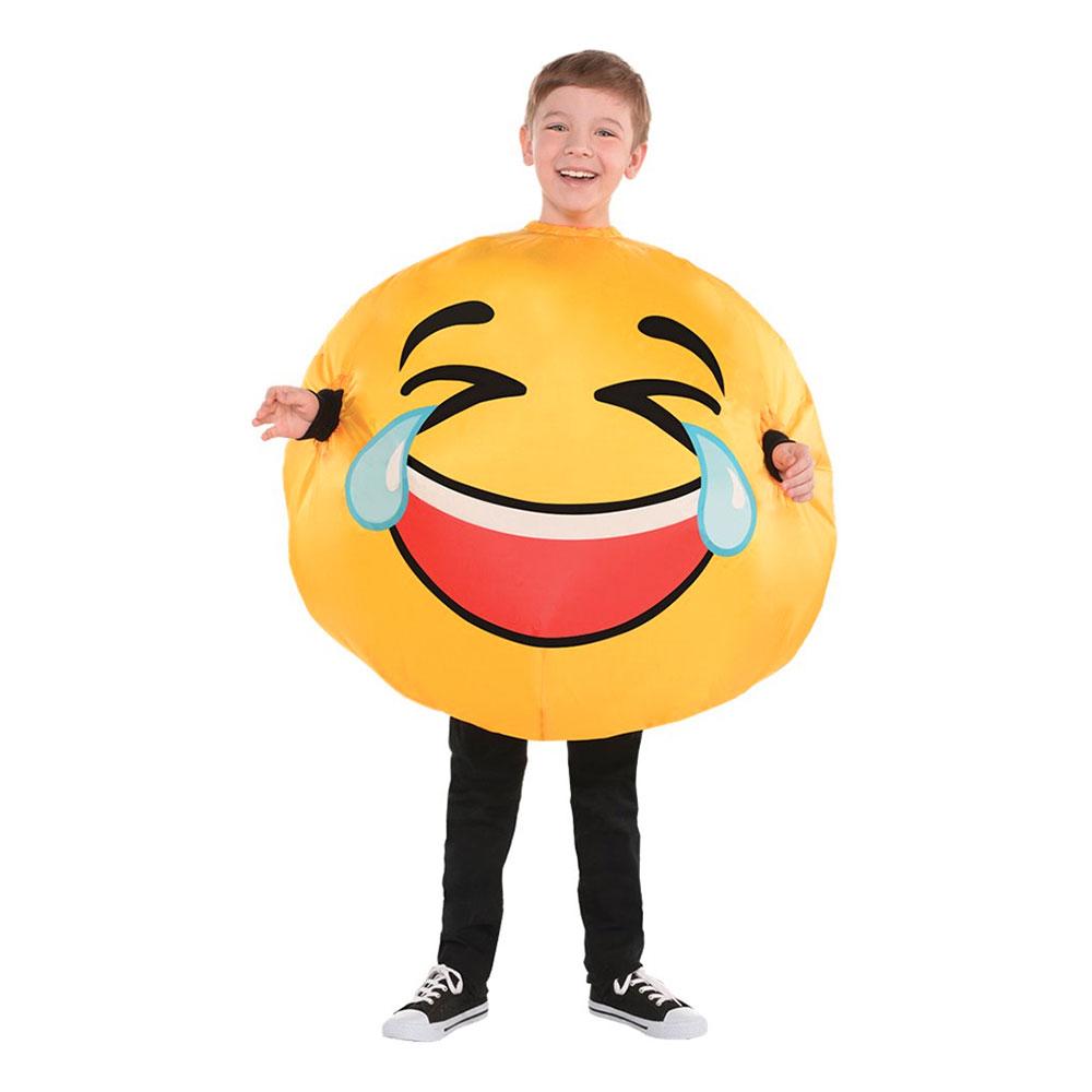 Uppblåsbar Emoji Laughter Barn Maskeraddräkt - One size
