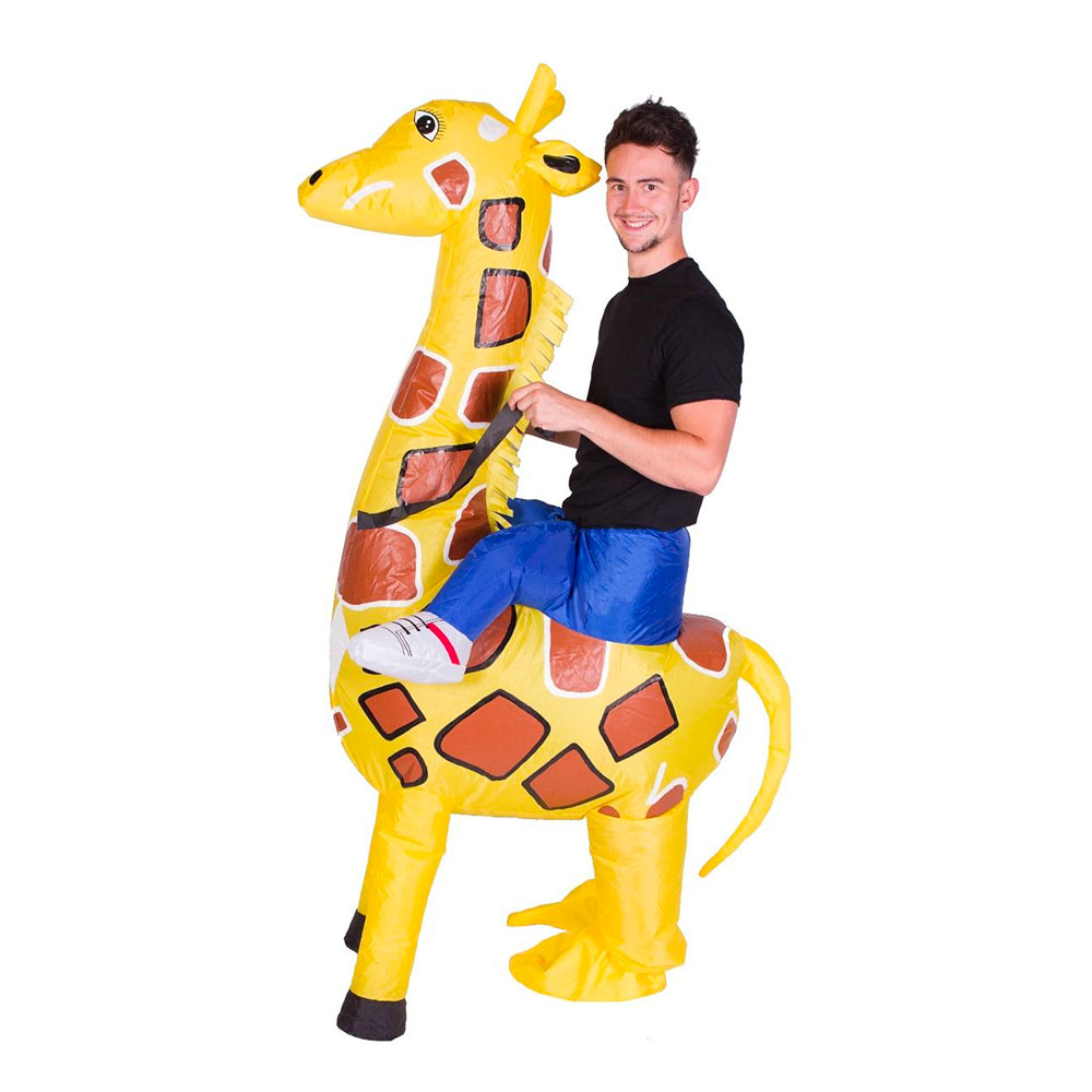 Uppblåsbart - Uppblåsbar Giraff Maskeraddräkt - One size