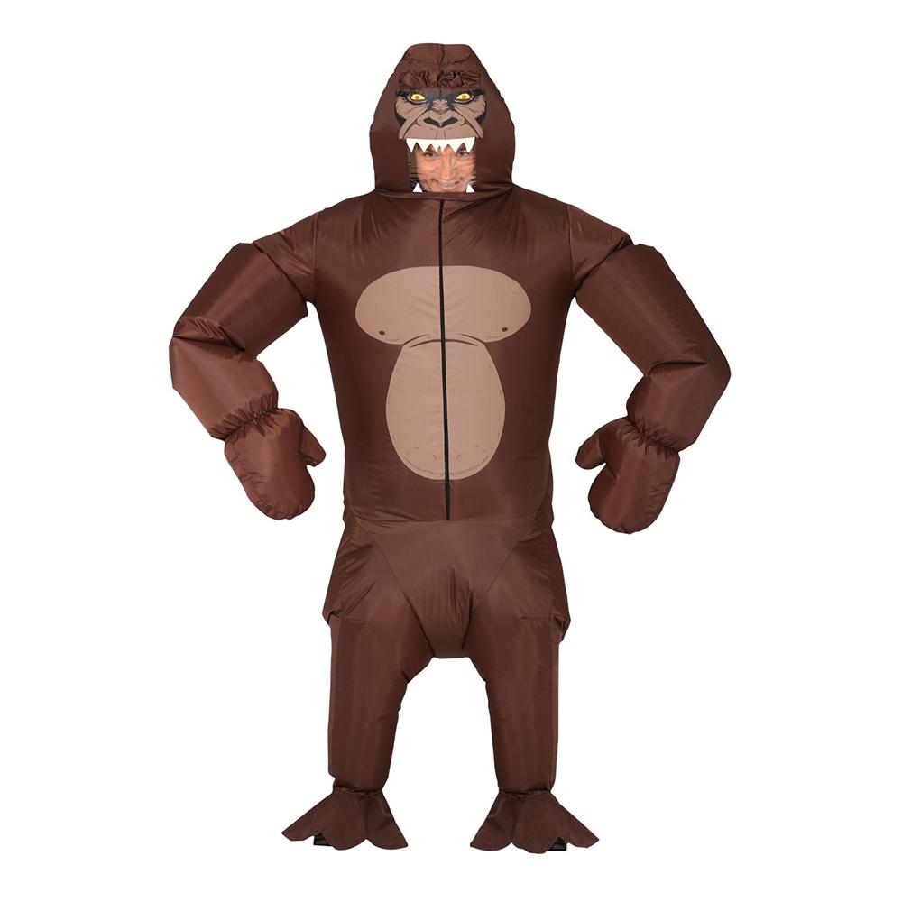 Uppblåsbar Gorilla Brun Maskeraddräkt - Large