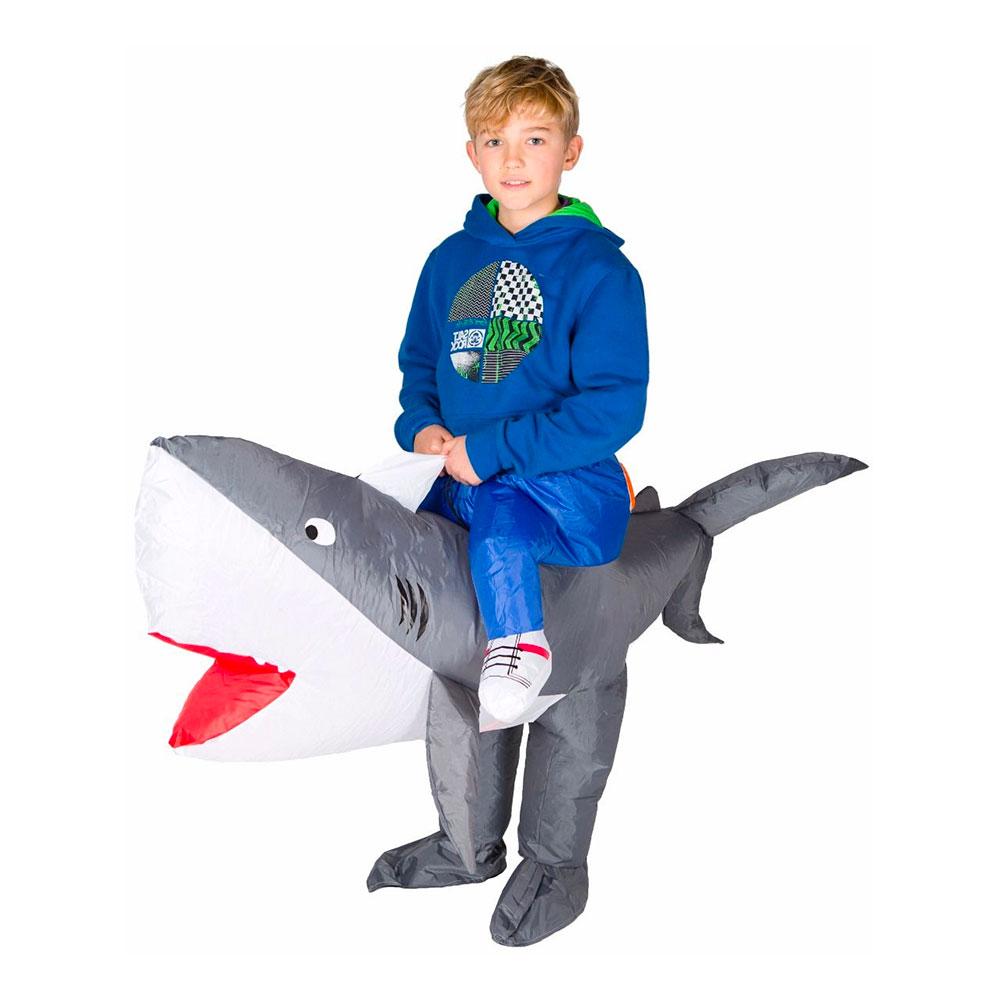 Uppblåsbar Haj Barn Maskeraddräkt - One size