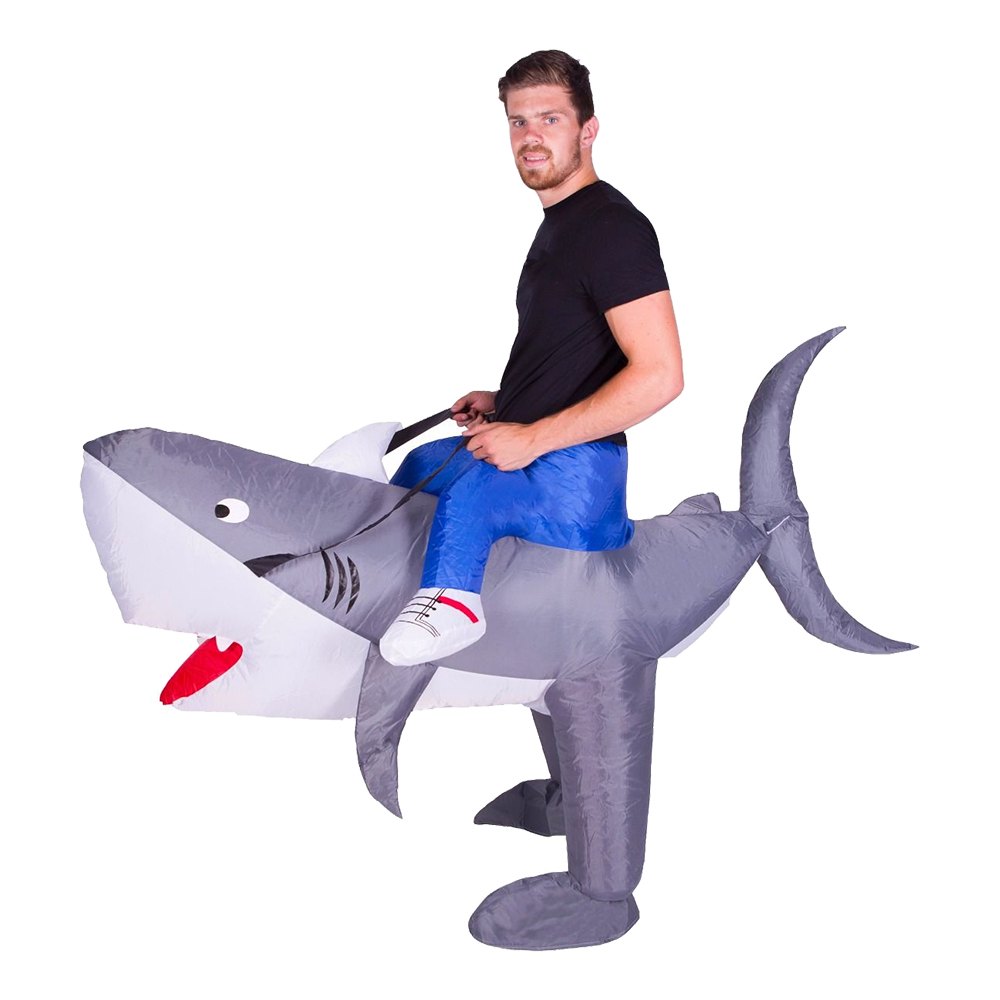 Uppblåsbar Haj Maskeraddräkt - One size
