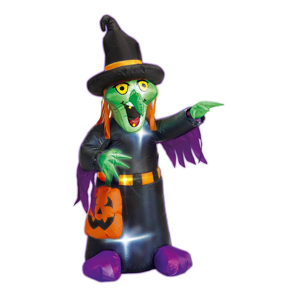 Uppblåsbar Halloween Häxa med Belysning