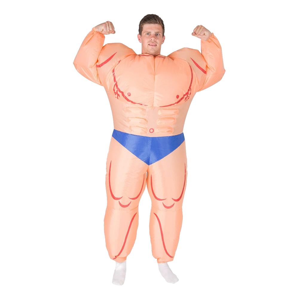 Uppblåsbar Manlig Bodybuilder Maskeraddräkt