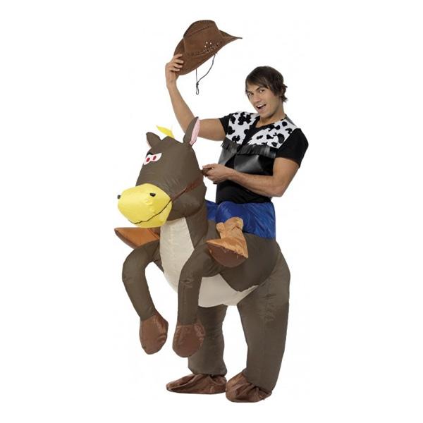 Uppblåsbar Ridande Cowboy Maskeraddräkt - One size