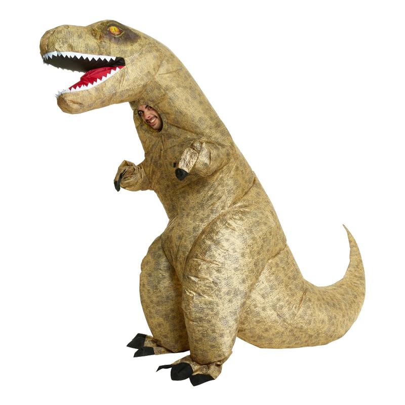 Uppblåsbar T-Rex Dinosaurie Maskeraddräkt - One size