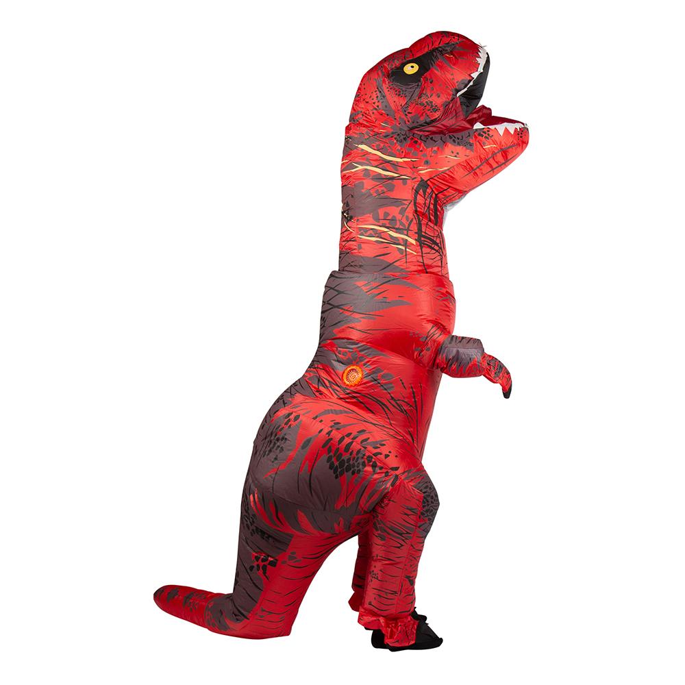 Uppblåsbar T-Rex Röd Maskeraddräkt - One size
