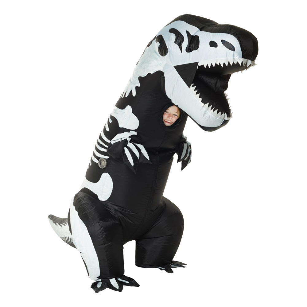Uppblåsbar T-Rex Skelett Barn Maskeraddräkt - One size