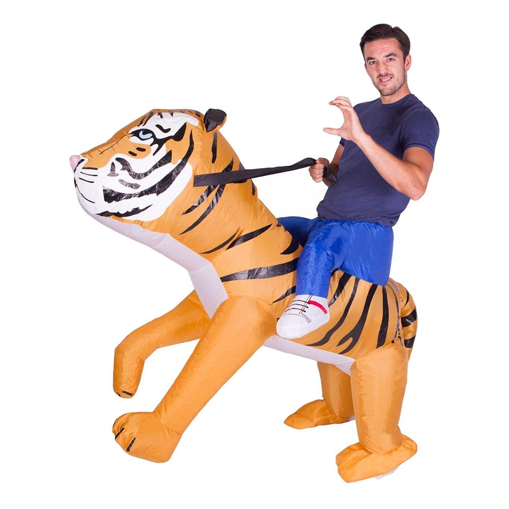 Uppblåsbar Tiger Maskeraddräkt