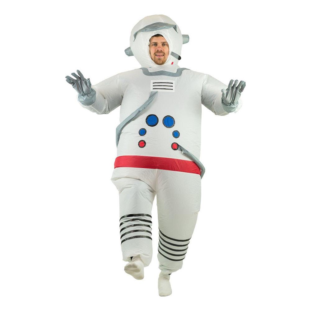 Uppblåsbar Astronaut Vit Maskeraddräkt - One size