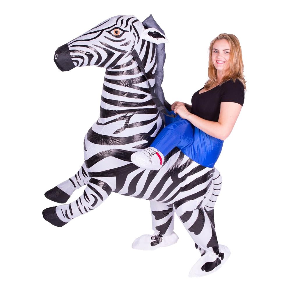 Uppblåsbar Zebra Maskeraddräkt