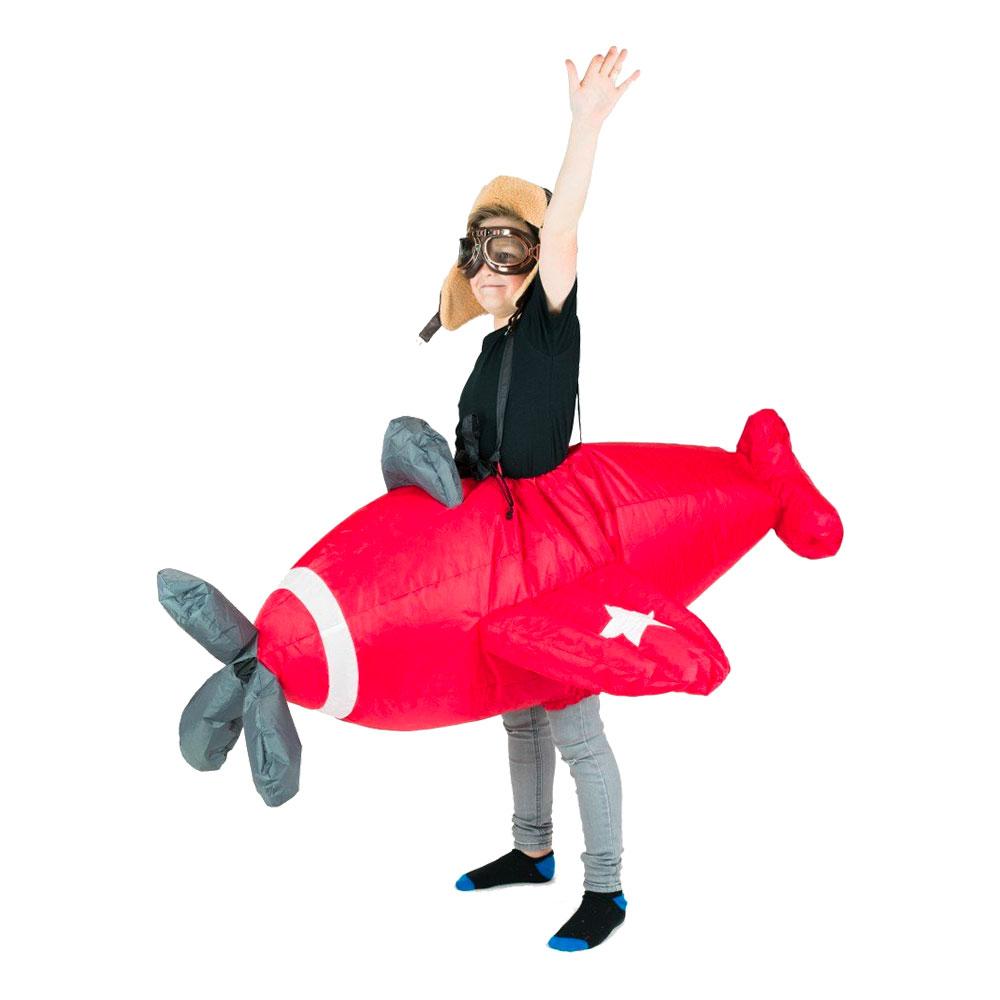 Uppblåsbart Flygplan Barn Maskeraddräkt - One size