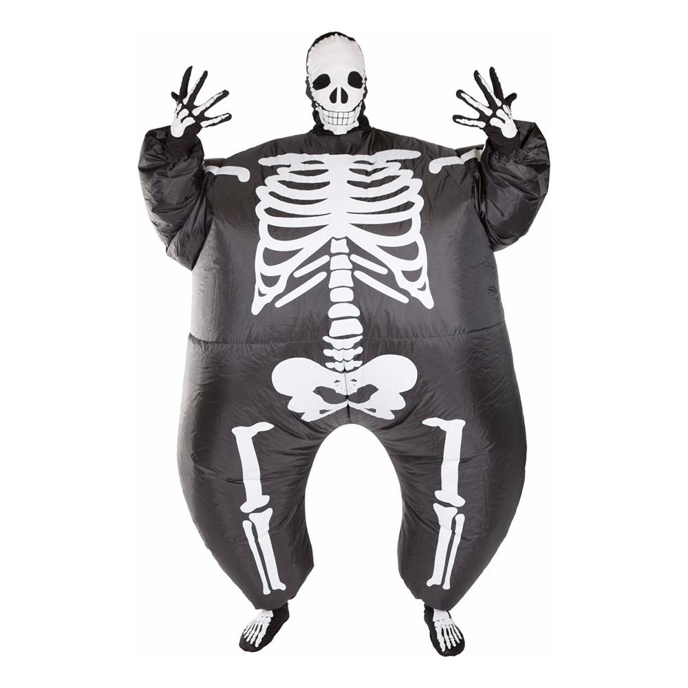 Uppblåsbart Skelett Maskeraddräkt - One size