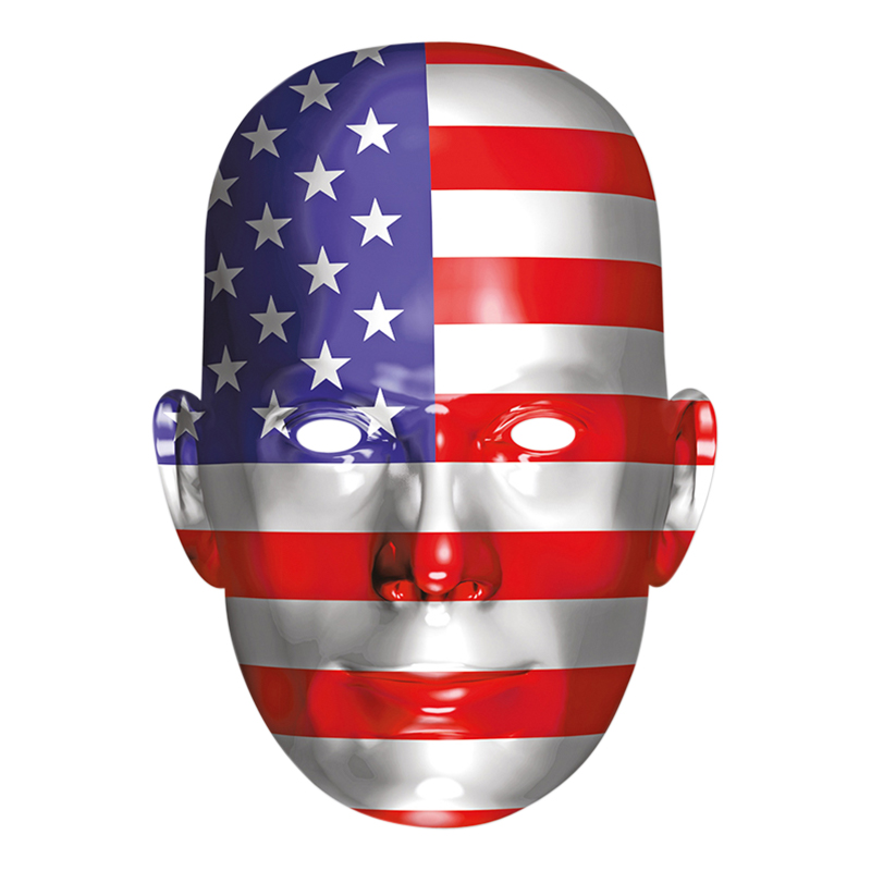 USA Flagga Pappmask