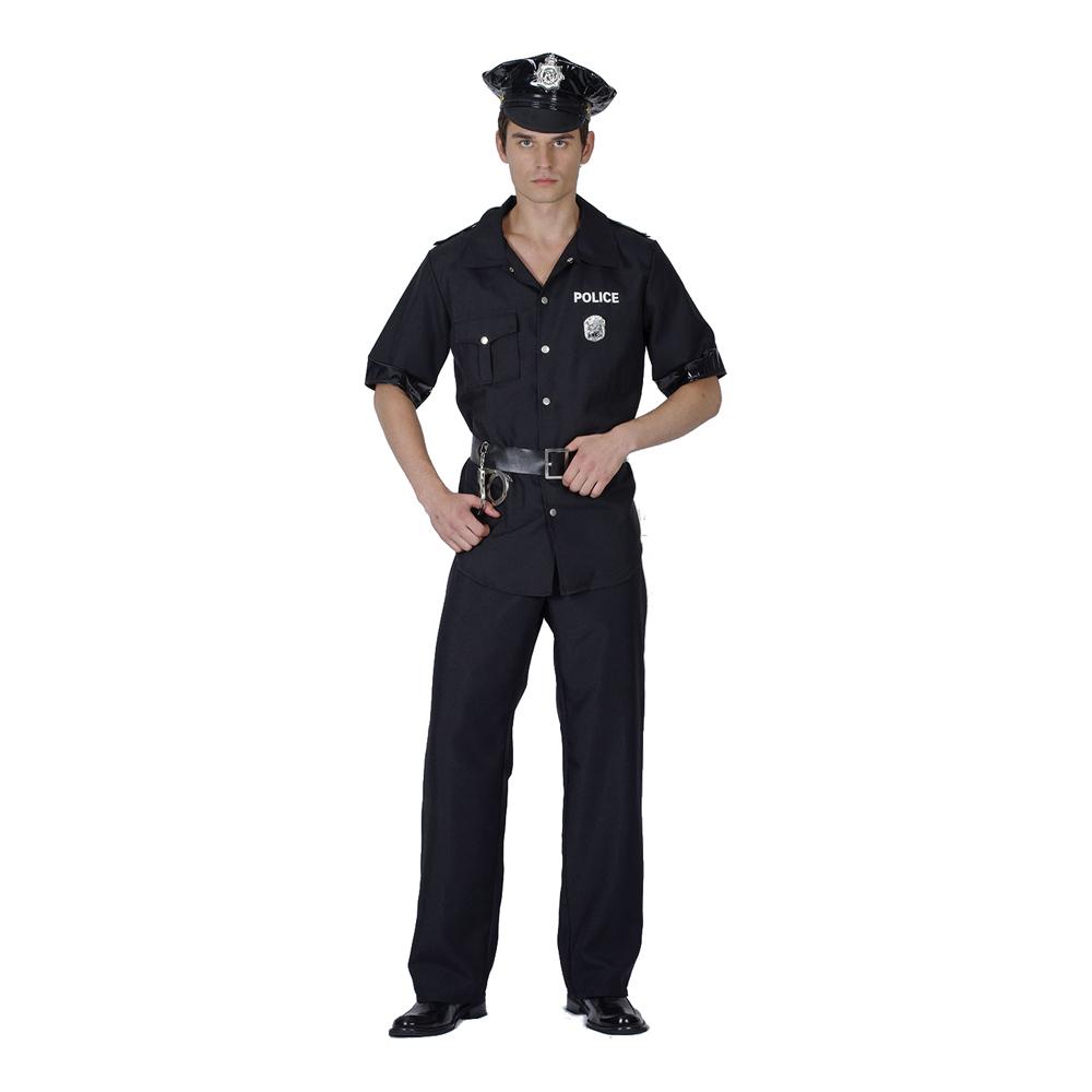 USA Polisman Maskeraddräkt - One size