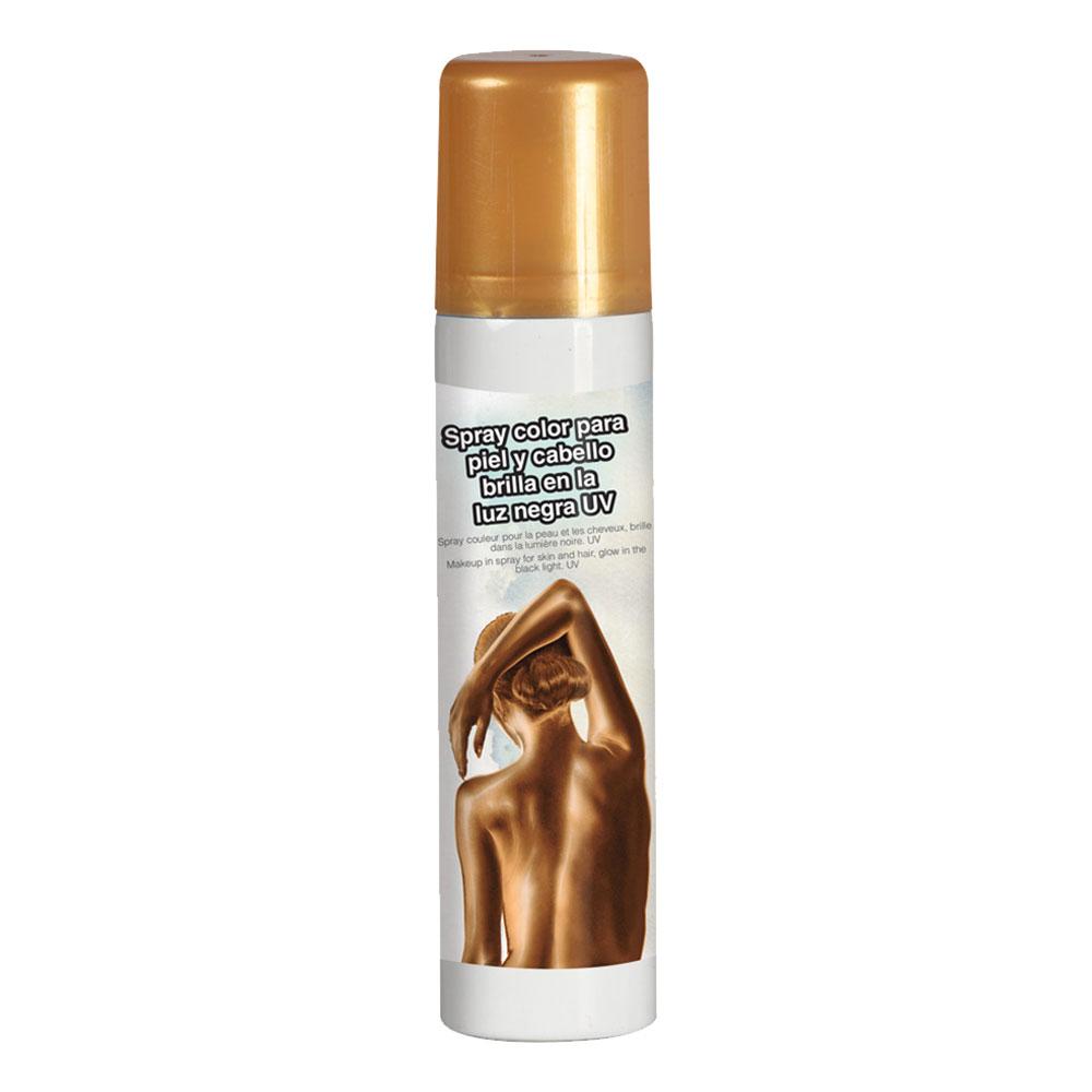 UV Ansikts- & Kroppsfärg Spray - Guld