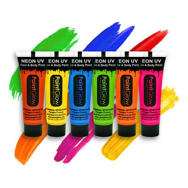 PaintGlow UV Neon Ansikts- & Kroppsfärg - 10 ml Gul