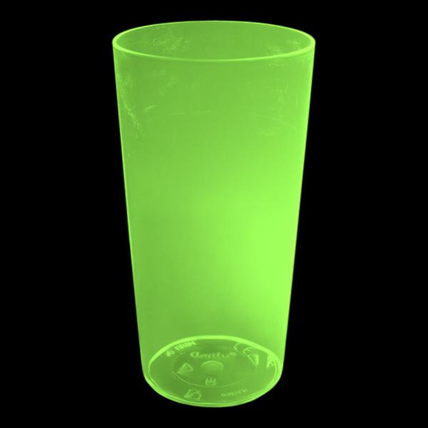 UV Neon Drinkglas - Gul
