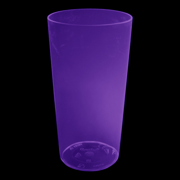 UV Neon Drinkglas - Lila