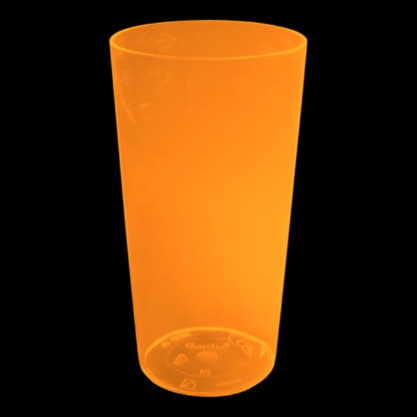 UV Neon Drinkglas - Orange