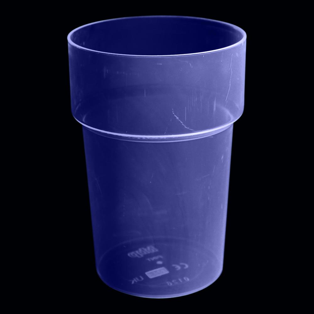 UV Neon Ölglas - Blå