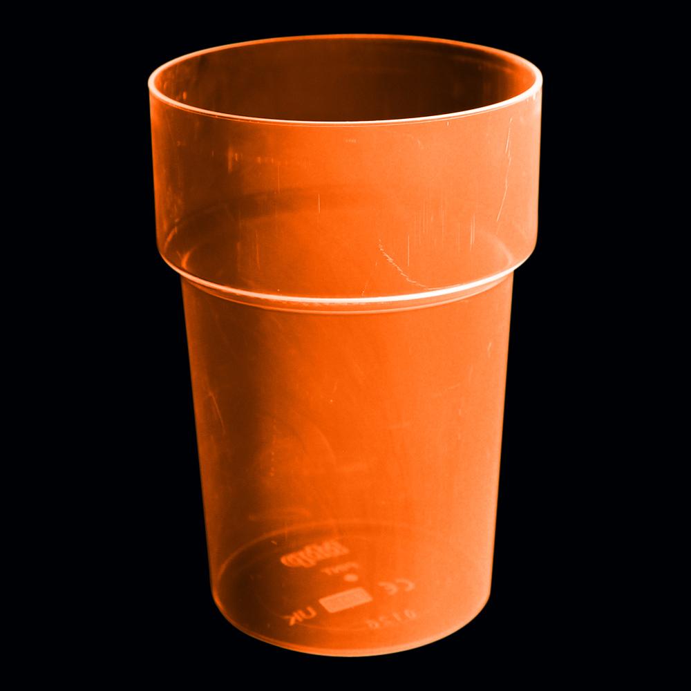 UV Neon Ölglas - Orange