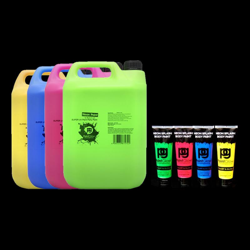UV Neon Splash Kroppsfärg - Blå 250ml
