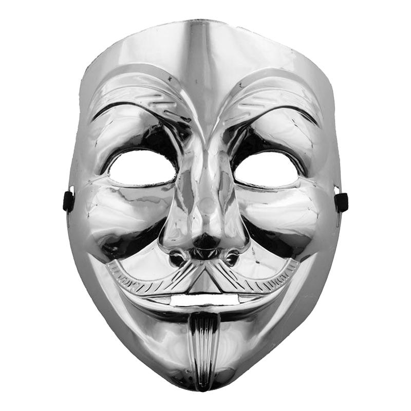 V For Vendetta Mask Silver - One size