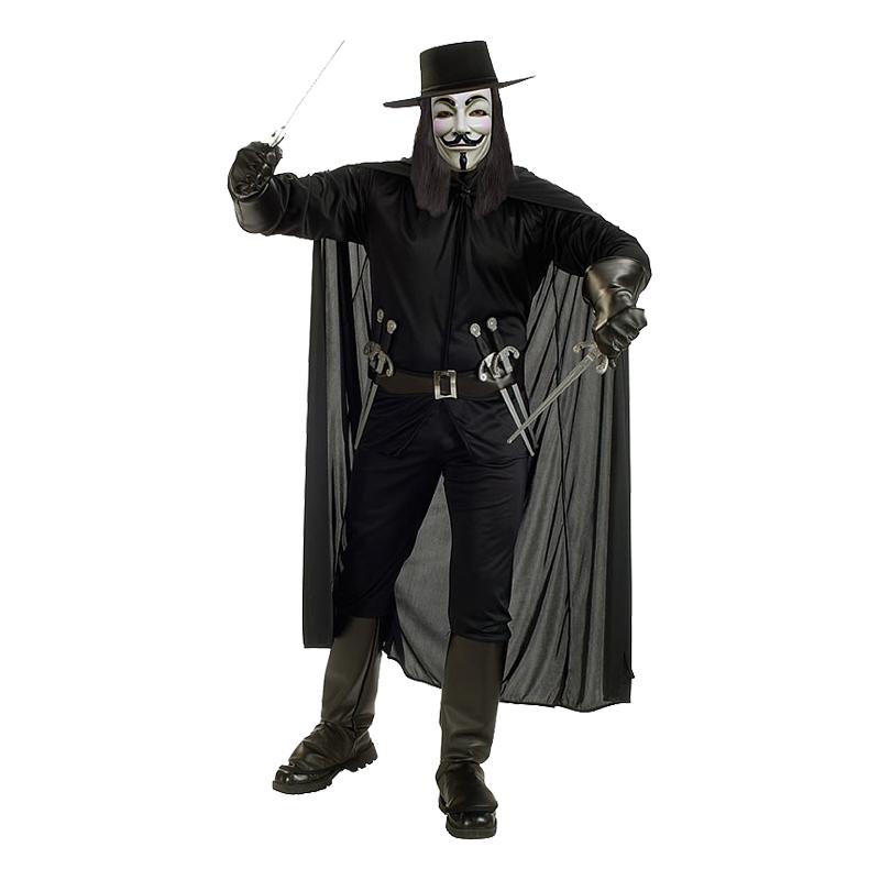 V for Vendetta Maskeraddräkt - Standard