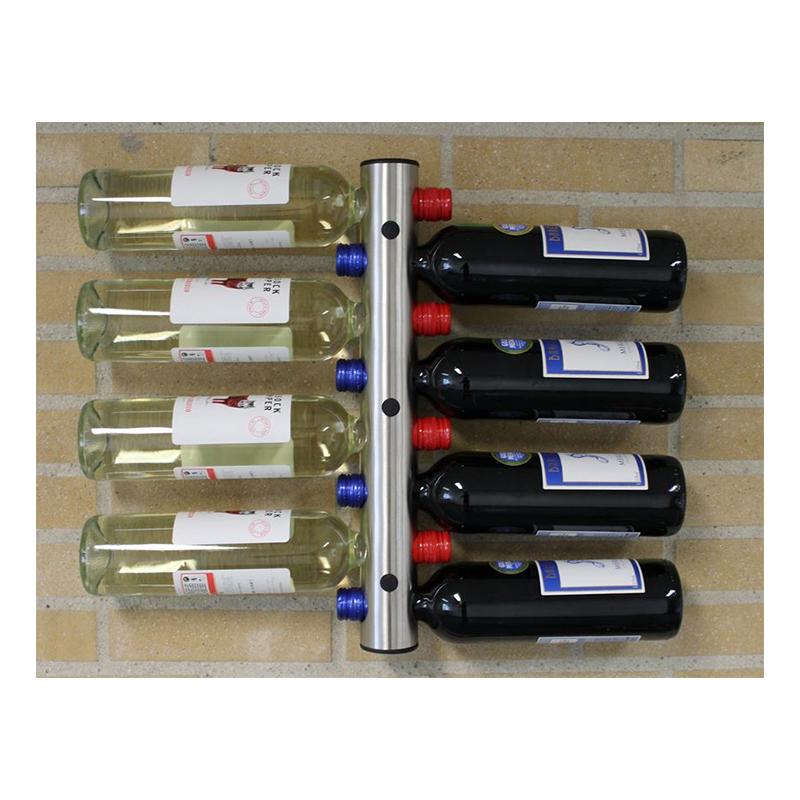 Väggmonterat Vinställ i Rostfritt - 8 flaskor