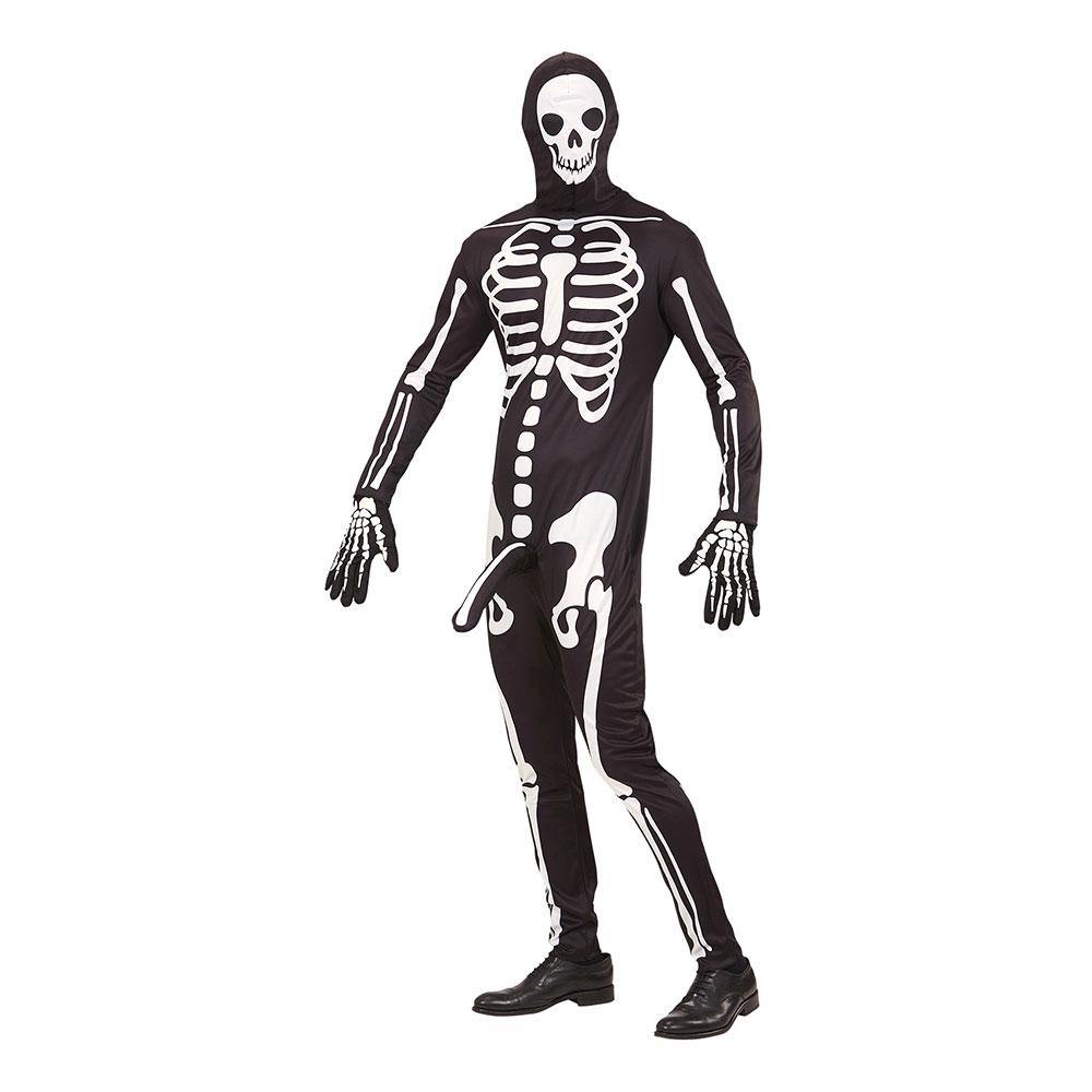 Välhängt Skelett Maskeraddräkt - Small