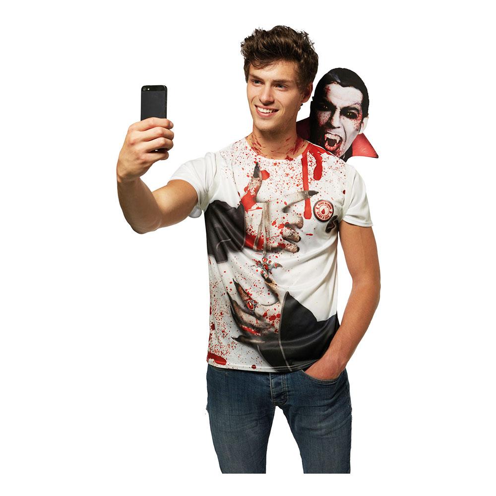 Vampyr Selfie Halloween Maskeraddräkt - One size