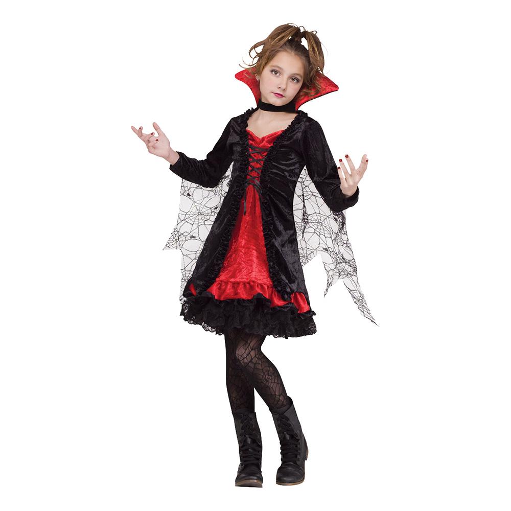 Vampyra Spets Barn Maskeraddräkt - Small
